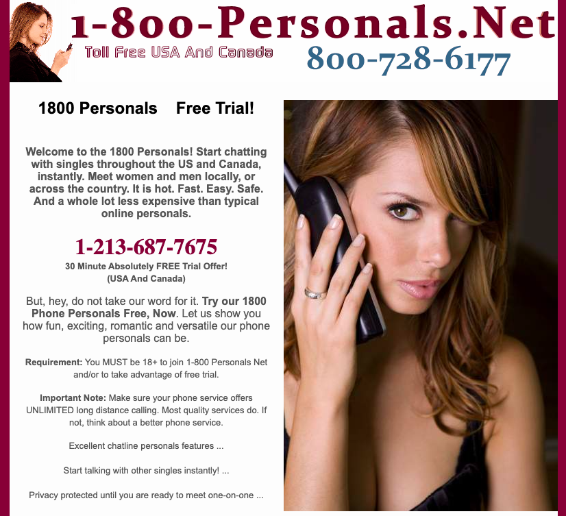 Personals Chat Line